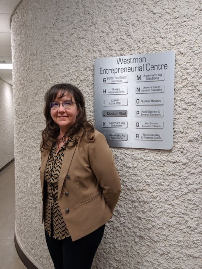 Westman Entrepreneurial Centre Incubator business owner Cindy Medd from Number Minders