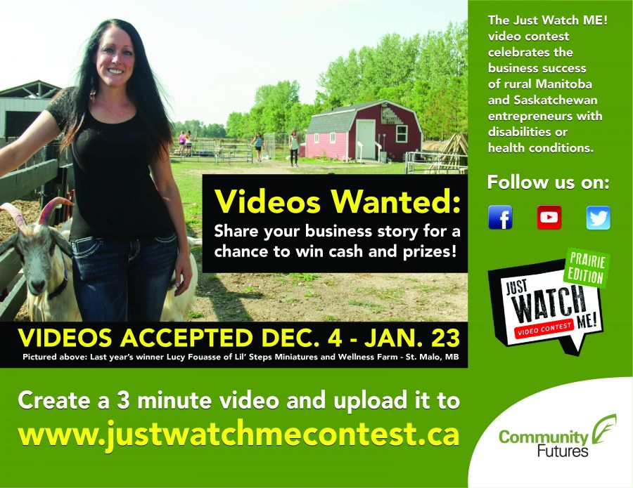 Launch of the Just Watch Me! video contest!