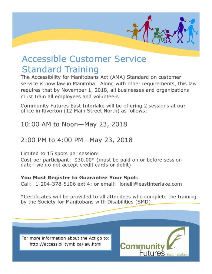 CF Accessibility Training Poster - May 23, 2018