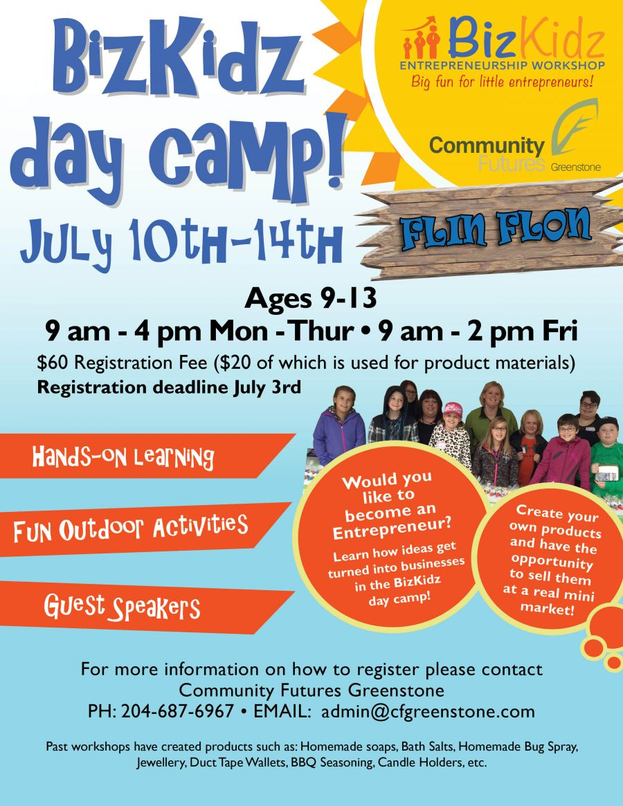 BizKidz Flin Flon Day Camp: July 10-14