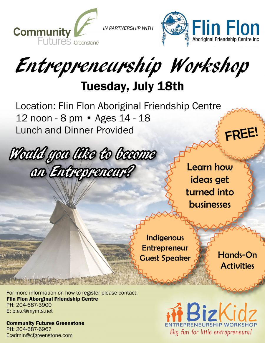 Indigenous Youth Entrepreneur Workshop: July 18